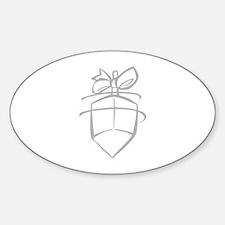 Dreidel Oval Decal