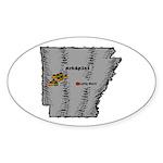 Arkansas Pride! Oval Sticker (10 pk)