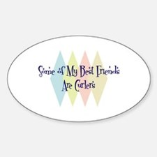 Curlers Friends Oval Decal