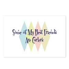 Curlers Friends Postcards (Package of 8)