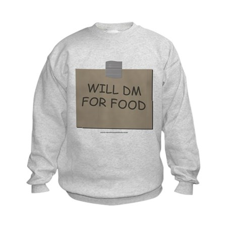 Will DM For Food Kids Sweatshirt