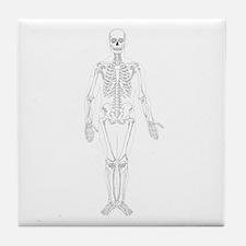 Human Skeleton Tile Coaster