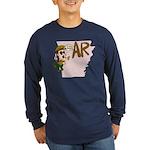 Arkansas Pride! Long Sleeve Dark T-Shirt