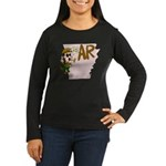 Arkansas Pride! Women's Long Sleeve Dark T-Shirt