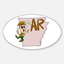 Arkansas Pride! Oval Decal