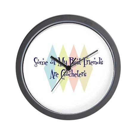 Crocheters Friends Wall Clock