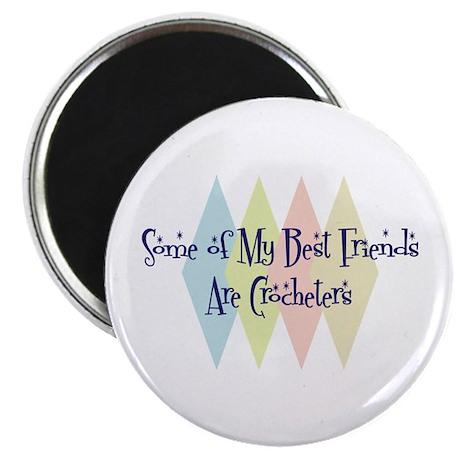 "Crocheters Friends 2.25"" Magnet (10 pack)"