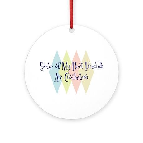 Crocheters Friends Ornament (Round)