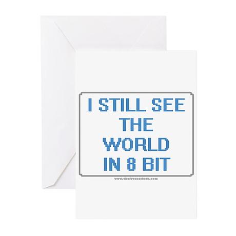 8 Bit World Greeting Cards (Pk of 10)