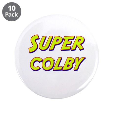 """Super colby 3.5"""" Button (10 pack)"""
