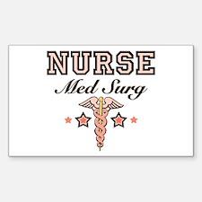 Med Surg Nurse Rectangle Decal