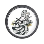 English Trumpeter Dun Splash Wall Clock