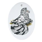 English Trumpeter Dun Splash Oval Ornament