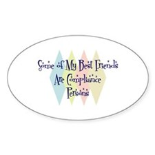 Compliance Persons Friends Oval Decal