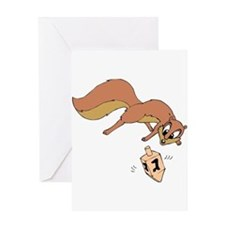 Chipmunk & Dreidel Greeting Card