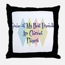 Clarinet Players Friends Throw Pillow