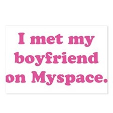I met my boyfriend on MySpace Postcards (Package o