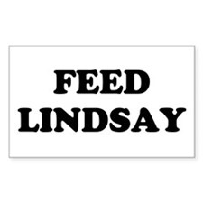 feed lindsay Rectangle Decal