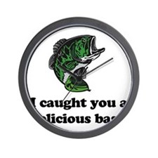 I Caught You A Delicious Bass Wall Clock