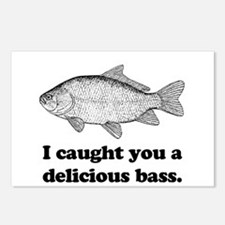 I Caught You A Delicious Bass Postcards (Package o
