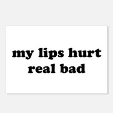 My Lips Hurt Real Bad Postcards (Package of 8)