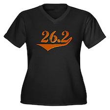 26.2 Retro Women's Plus Size V-Neck Dark T-Shirt