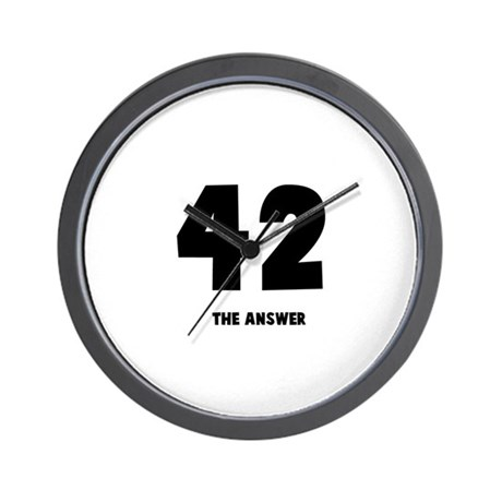 42 the answer to the question Wall Clock
