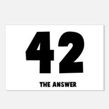 42 the answer to the question Postcards (Package o