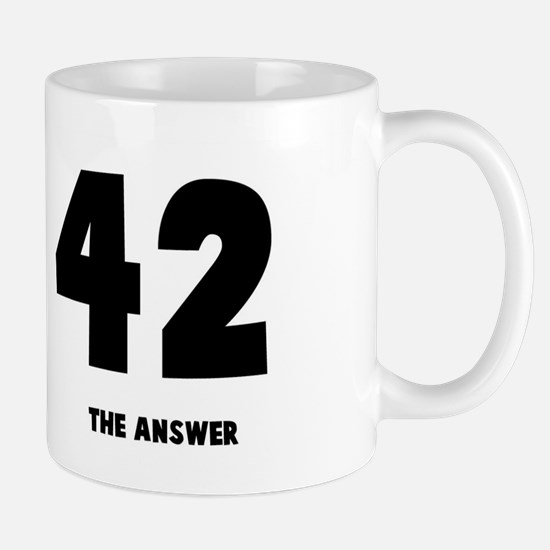 42 the answer to the question Mug