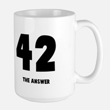 42 the answer to the question Large Mug