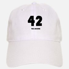 42 the answer to the question Baseball Baseball Cap