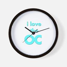 I Love the OC for OC lovers Wall Clock