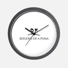Reflexes of a Puma Wall Clock