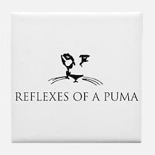 Reflexes of a Puma Tile Coaster
