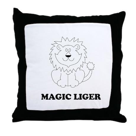 Magic Liger Throw Pillow