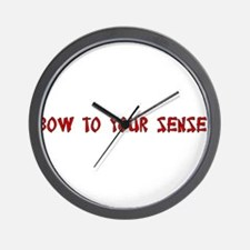 Bow To Your Sensei! Wall Clock