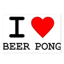 I Love Beer Pong Postcards (Package of 8)