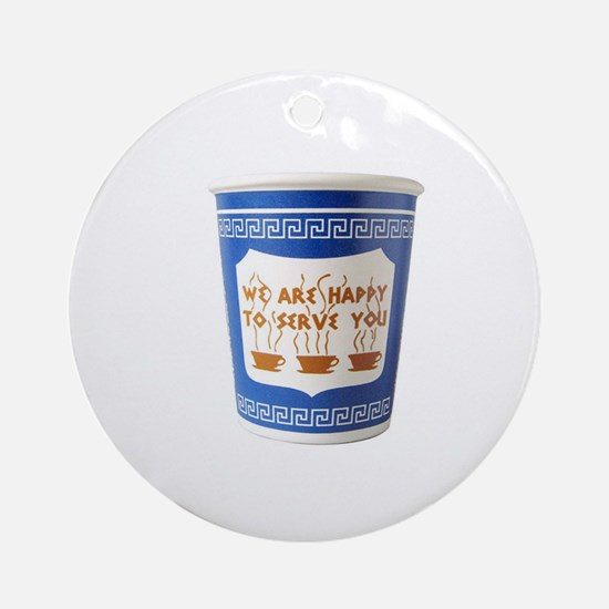We Are Happy To Serve You Ornament (Round)