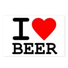 I Love Beer Postcards (Package of 8)