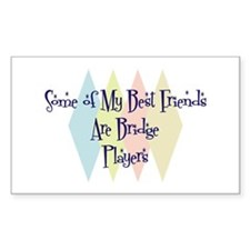 Bridge Players Friends Rectangle Decal