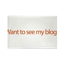 Want To See My Blog? - web bl Rectangle Magnet (10