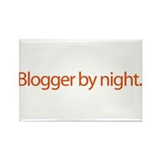 Blogger By Night - web blog Rectangle Magnet (10 p