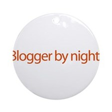 Blogger By Night - web blog Ornament (Round)