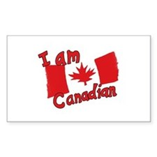 I Am Canadian Rectangle Decal
