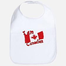 I Am Canadian Bib