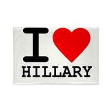 I Love Hillary Rectangle Magnet