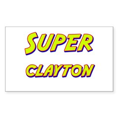 Super clayton Rectangle Decal