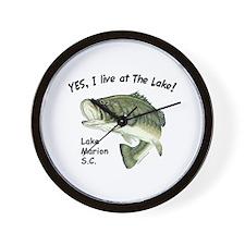 Lake Marion SC bass Wall Clock