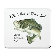 Lake Keowee SC bass Mousepad