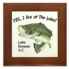 Lake Keowee SC bass Framed Tile